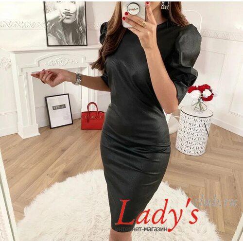 Женское платье миди купить интернет магазине Lady 's club.ru черное футляр