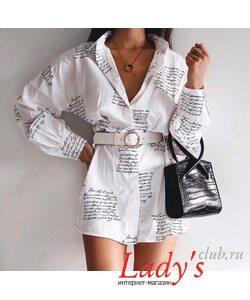 Женское платье рубашка купить интернет магазине Lady's club.ru