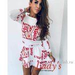Женское платье купить в интернет магазине Lady's club.ru короткое белое