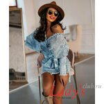 Женское платье купить в интернет магазине Lady's club.ru короткое синее джинсовое