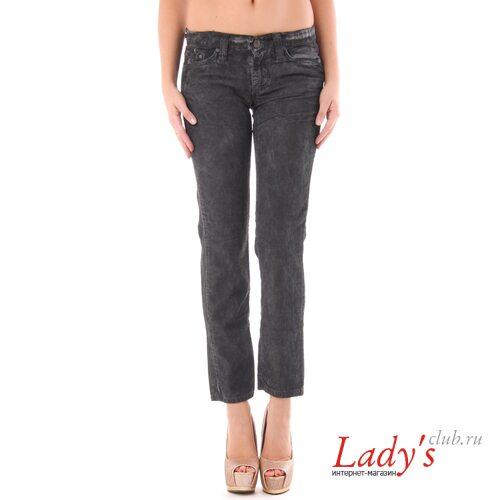 Итальянские вельветовые женские брюки SEXY WOMAN J1549, черные