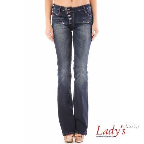 Итальянские джинсы клеш от колена SEXY WOMAN J1468