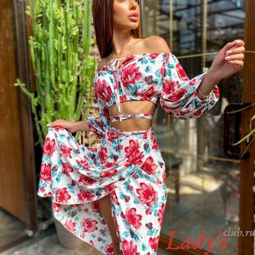 Женское короткое платье купить в интернет магазине Lady's club.ru lcl14071