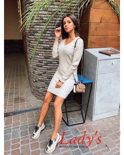 Женское вязаное платье косы Галант  купить интернет магазине Lady's club.ru