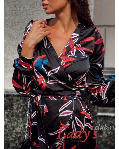 Женское платье на запах Виола  купить интернет магазине Lady's club.ru