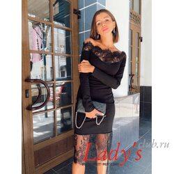 Женское нарядное платье lcl13-16 Lady's club купить в интернет магазине вечернее