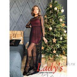 Женское нарядное платье lcl13-229 Lady's club купить в интернет магазине вечернее