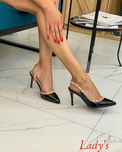 Туфли лодочки открытые женские купить в интернет магазине Lady's club.ru недорого черные