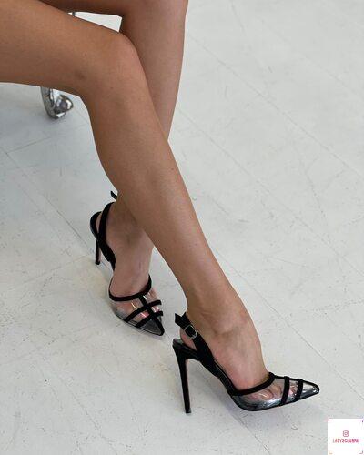 Туфли лодочки открытые женские купить в интернет магазине Lady's club.ru недорого прозрачные черные