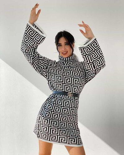Женское короткое платье купить в интернет магазине Lady's club.ru lcl/16081