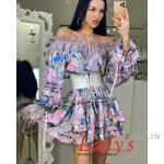 Женское короткое платье купить в интернет магазине Lady's club.rulcl/02-43 сиреневое